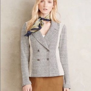 Anthropologie double breasted blazer